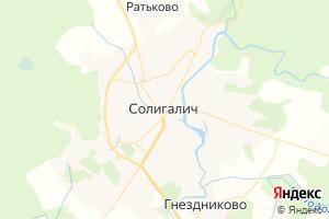 Карта г. Солигалич Костромская область