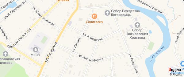 Улица В.Брюсова на карте Солигалича с номерами домов