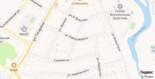 Улица К.Маркса в Солигаличе с номерами домов на карте. Спутник и схема онлайн