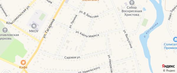 Улица К.Маркса на карте Солигалича с номерами домов