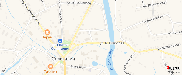 Улица Островского на карте Солигалича с номерами домов