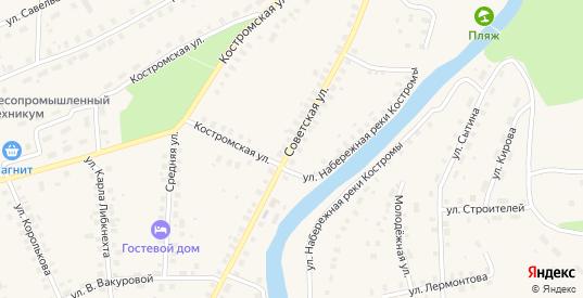 Советская улица в Солигаличе с номерами домов на карте. Спутник и схема онлайн
