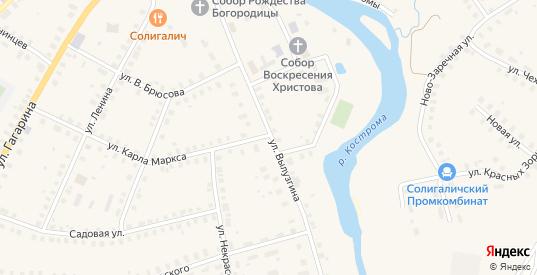 Улица Вылузгина в Солигаличе с номерами домов на карте. Спутник и схема онлайн