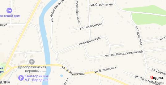 Пионерская улица в Солигаличе с номерами домов на карте. Спутник и схема онлайн