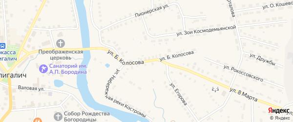 Улица Б.Колосова на карте Солигалича с номерами домов