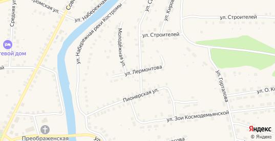 Улица Лермонтова в Солигаличе с номерами домов на карте. Спутник и схема онлайн