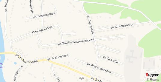 Улица З.Космодемьянской в Солигаличе с номерами домов на карте. Спутник и схема онлайн