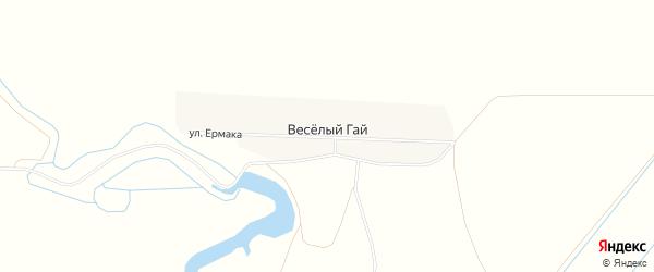 Карта хутора Веселого Гая в Ростовской области с улицами и номерами домов