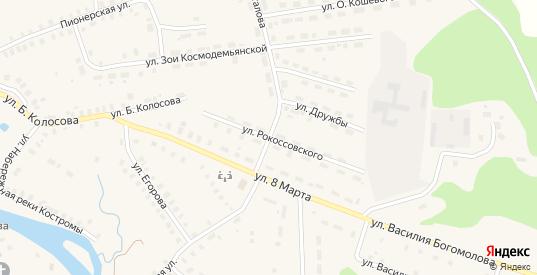 Улица Рокоссовского в Солигаличе с номерами домов на карте. Спутник и схема онлайн