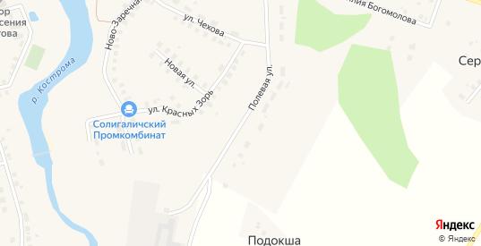 Полевая улица в Солигаличе с номерами домов на карте. Спутник и схема онлайн