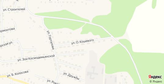 Улица О.Кошевого в Солигаличе с номерами домов на карте. Спутник и схема онлайн