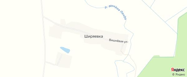 Карта деревни Ширяевка в Тамбовской области с улицами и номерами домов