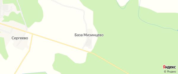 Карта поселка База Мизинцево в Костромской области с улицами и номерами домов