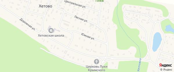 Южная улица на карте поселка Хетово с номерами домов