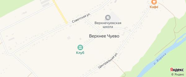 Новая улица на карте села Верхнего Чуево Тамбовской области с номерами домов