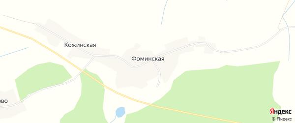 Карта Фоминской деревни в Вологодской области с улицами и номерами домов