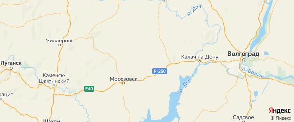 Карта Обливского района Ростовской области с городами и населенными пунктами
