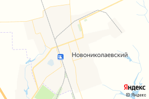 Карта пос. Новониколаевский Волгоградская область