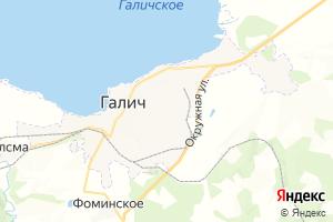 Карта г. Галич Костромская область