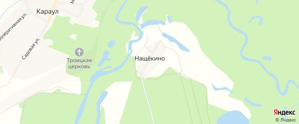 Карта деревни Нащекино в Тамбовской области с улицами и номерами домов