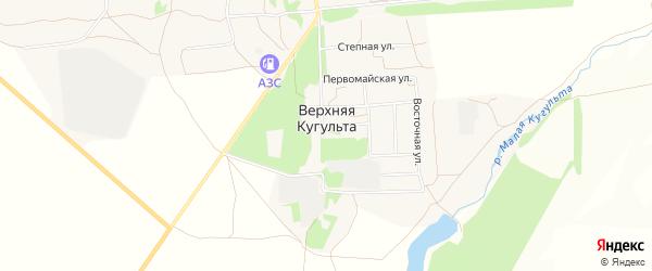 Карта поселка Верхней Кугульта в Ставропольском крае с улицами и номерами домов