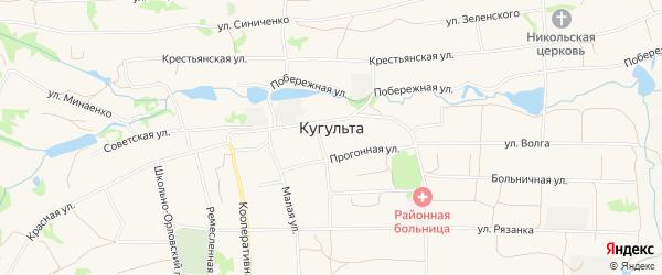 Карта села Кугульты в Ставропольском крае с улицами и номерами домов