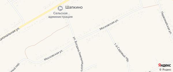 Московская улица на карте села Шапкино Тамбовской области с номерами домов