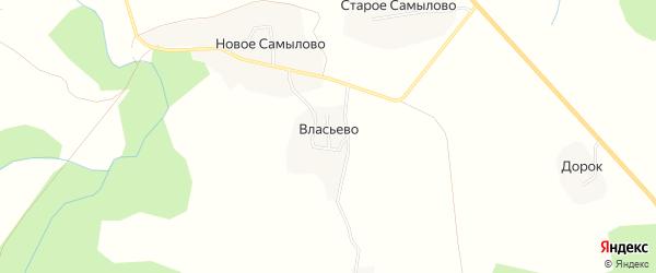 Карта деревни Власьево в Костромской области с улицами и номерами домов
