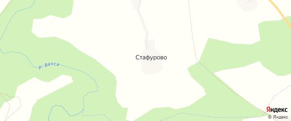 Карта деревни Стафурово в Костромской области с улицами и номерами домов