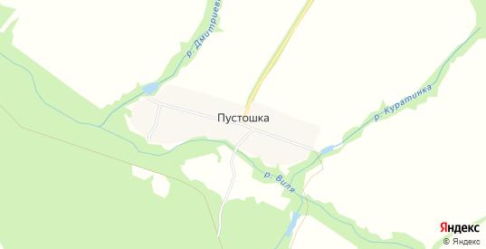 Карта деревни Пустошка в Выксе с улицами, домами и почтовыми отделениями со спутника онлайн