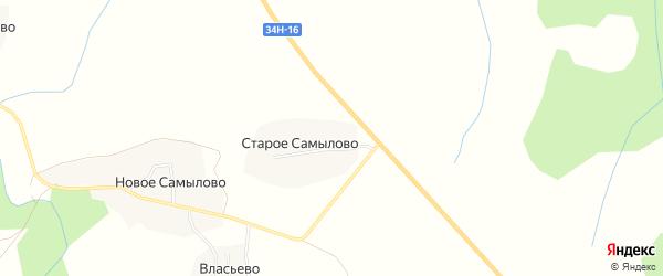 Карта деревни Старое Самылово в Костромской области с улицами и номерами домов