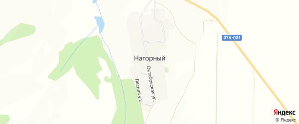 Карта Нагорного хутора в Ставропольском крае с улицами и номерами домов