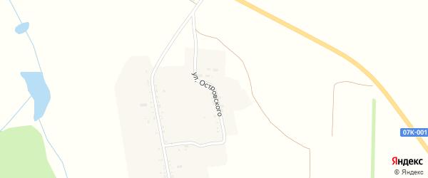 Улица Островского на карте Нагорного хутора Ставропольского края с номерами домов