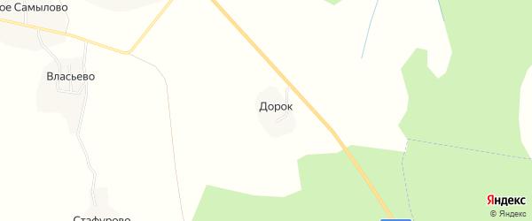 Карта деревни Дорка в Костромской области с улицами и номерами домов