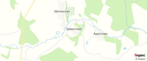 Карта Замостной деревни в Ивановской области с улицами и номерами домов