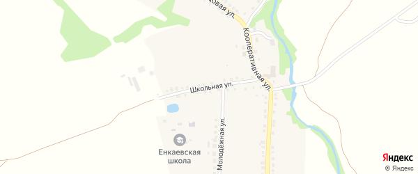 Школьная улица на карте села Четово Рязанской области с номерами домов
