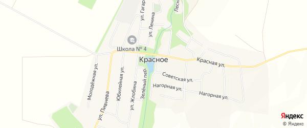 Карта Красного села в Ставропольском крае с улицами и номерами домов