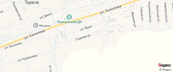 Садовая улица на карте села Терезе Карачаево-Черкесии с номерами домов