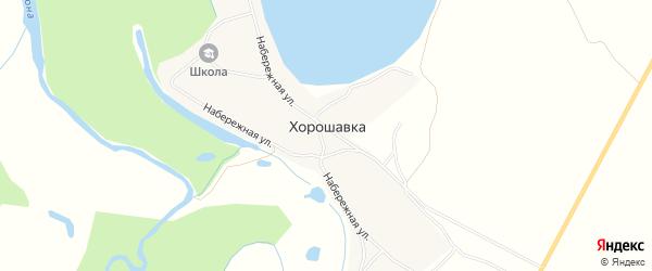Карта села Хорошавки в Тамбовской области с улицами и номерами домов