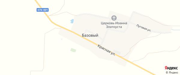 Карта Базового хутора в Ставропольском крае с улицами и номерами домов