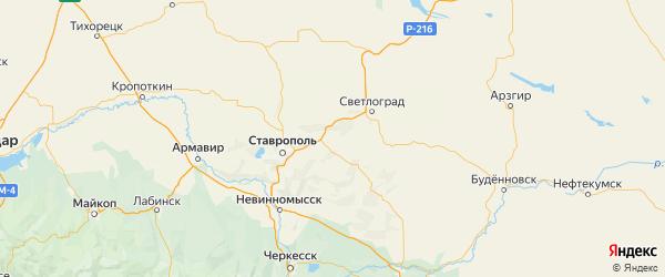 Карта Грачевского района Ставропольского края с городами и населенными пунктами