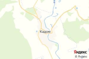 Карта пгт Кадом Рязанская область