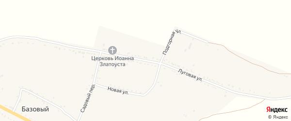 Луговая улица на карте Базового хутора Ставропольского края с номерами домов