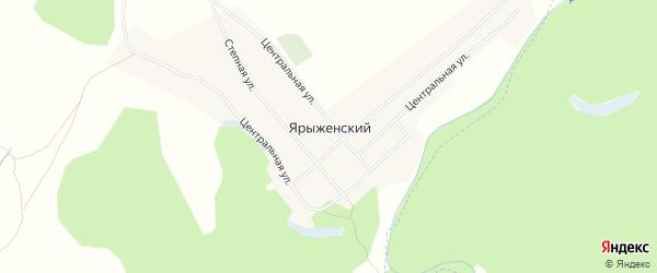 Карта Ярыженского хутора в Волгоградской области с улицами и номерами домов