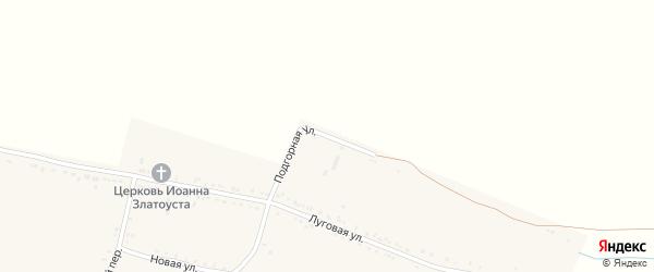 Подгорная улица на карте Базового хутора Ставропольского края с номерами домов