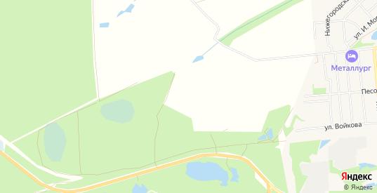 Карта территории СНТ Урожай в Кулебаках с улицами, домами и почтовыми отделениями со спутника онлайн