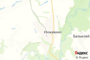 Карта пгт Инжавино Тамбовская область