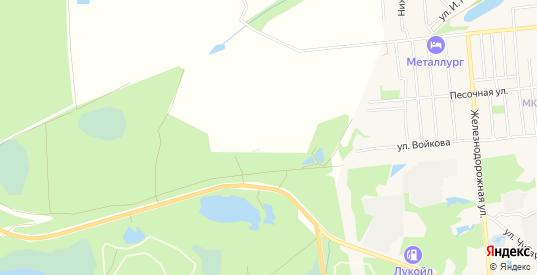 Карта территории СНТ Заря в Кулебаках с улицами, домами и почтовыми отделениями со спутника онлайн