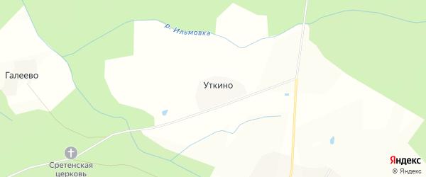 Карта деревни Уткино в Костромской области с улицами и номерами домов