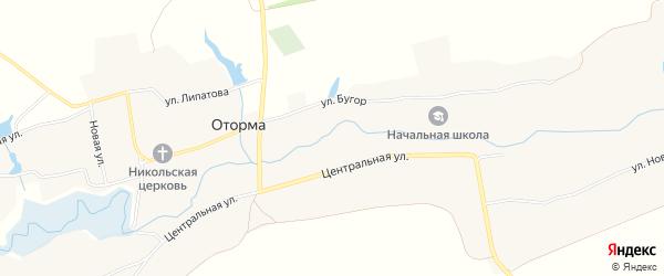 Карта села Оторма в Пензенской области с улицами и номерами домов